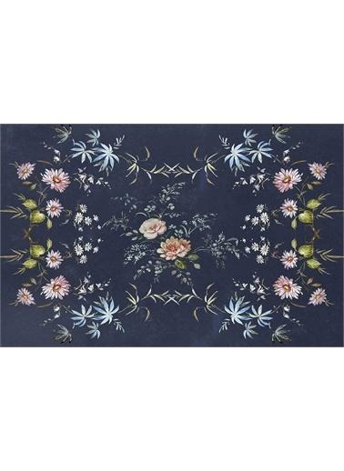 ReHome ReHome Euroser Çiçek Desenli Zümrüt Halı Renkli